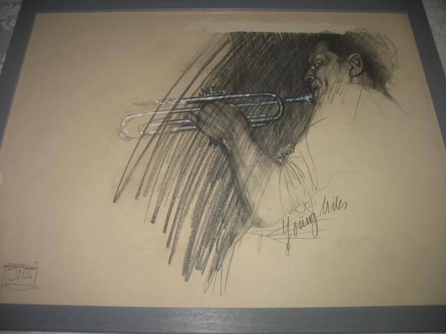 """""""Young Miles"""" - Graphik von Herbert Joos"""