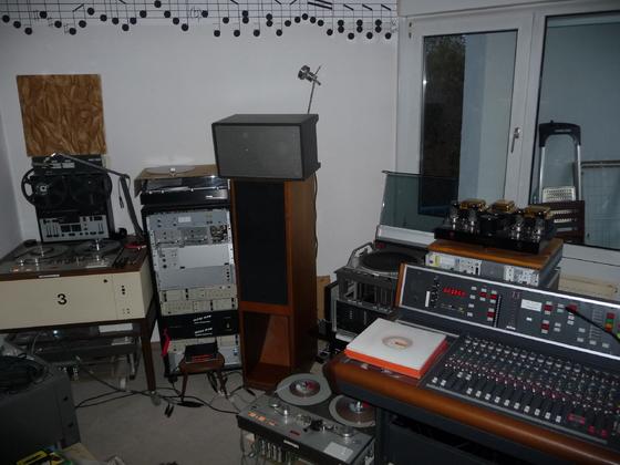 Aufnahmesession für das Tonbandkettenpaket
