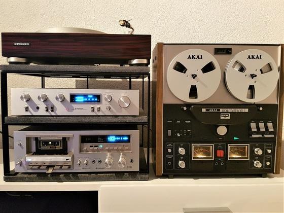 AKAI GX-260 D + Pioneer FT-F750 + Pioneer SA-610 # Pioneer PL-50L