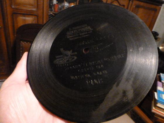 Antike Schallplatte von 1899