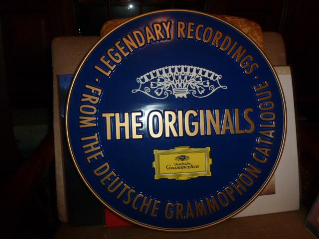 Schallplatten-Firmen Werbeschild Deutsche Grammophon Gesellschaft