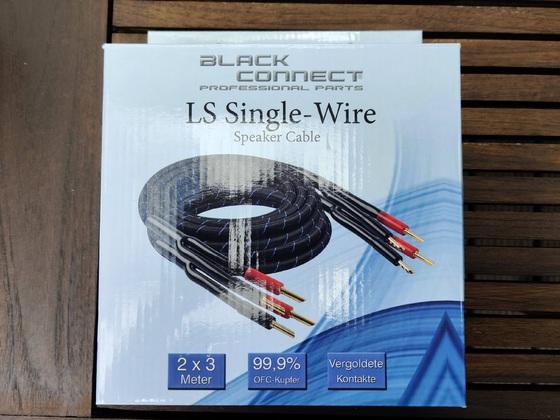 Black Connect 2x3m LS-Kabel