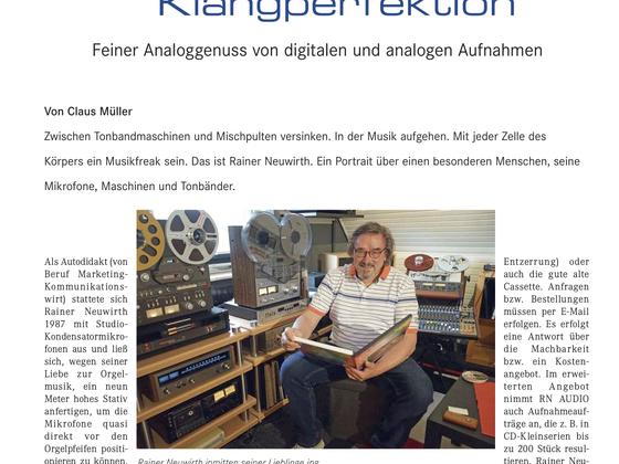 """Portrait RN Audio in der """"Analog"""" 2/20"""