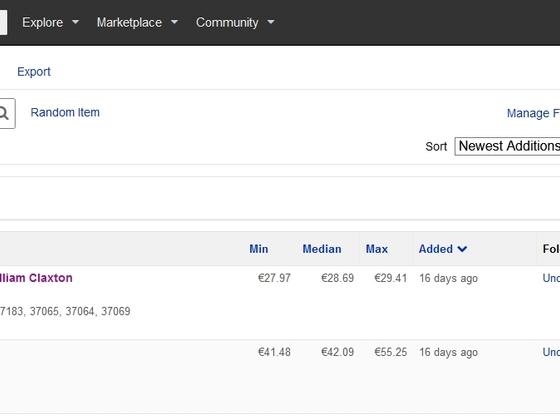 Discogs Screenshot