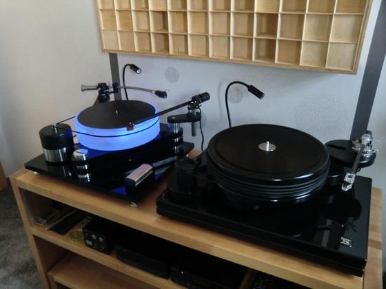 Hörraum Plattenspieler 1 Nottingham AS-Deck294/ Plattenspieler 2 DIY Scheu&TW