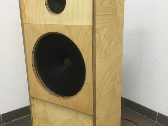 Abhörmonitor: Kl-l405 + Sachsenwerk Tweeter 13cm Halboffenes Gehäuse mit Schlitzresonator