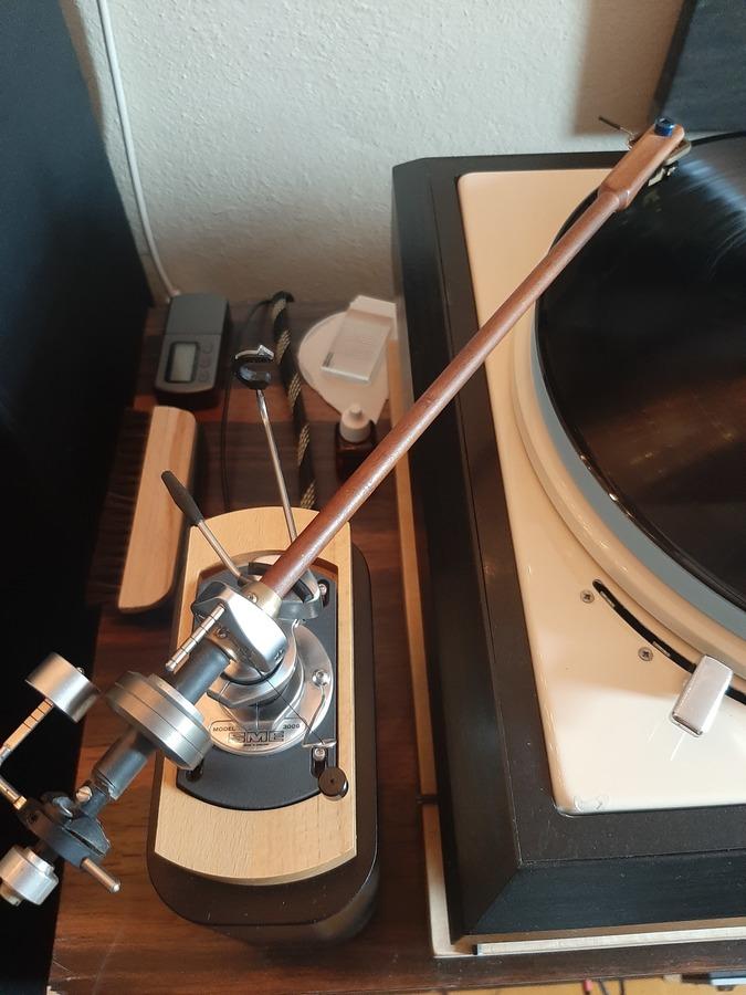 "A&R P77/ Jico Stylus1 SAS am DIY SME 12"" mit Fuchs-Holzarm"