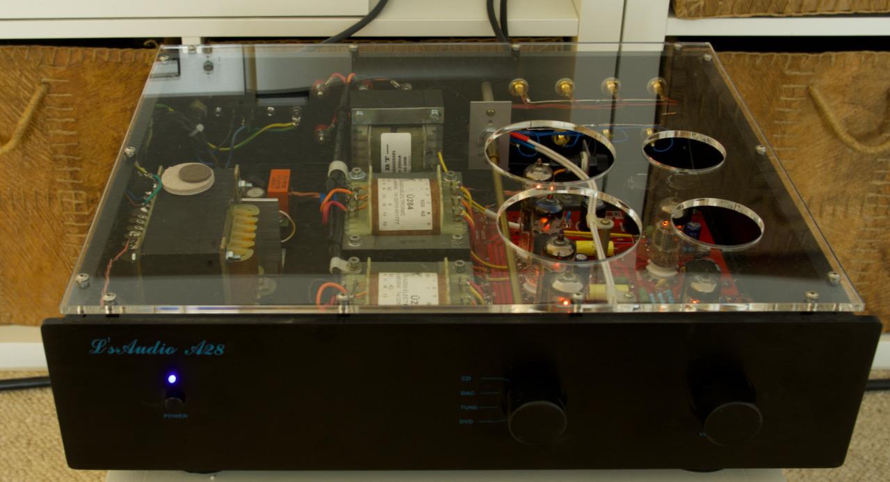 EL 84 PP, Deckel in Acryl, komplett mit Telefunken bestückt