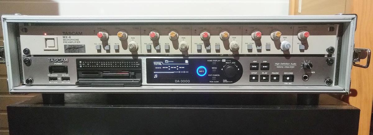Das Dreamteam auf 2 HE: Tascam MX-4 (1995) und D-3000 (2020)