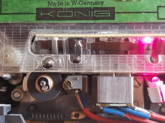 Eine Spiegelkassette im Einsatz