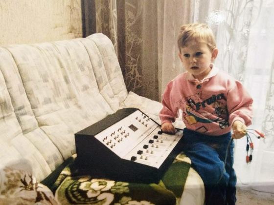 Der Kurze mit Papas erstem Mixer