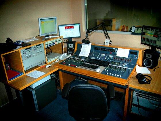 Sender-Studio wartet auf seine Moderator