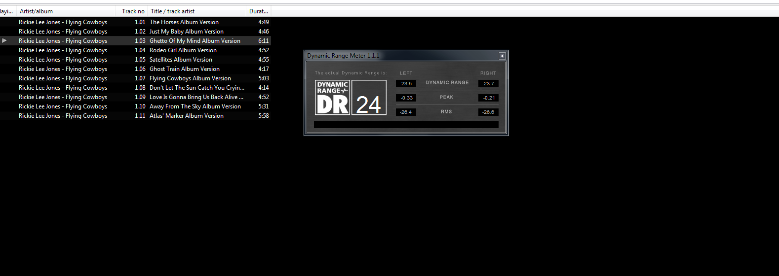 Dynamik Range Foobar