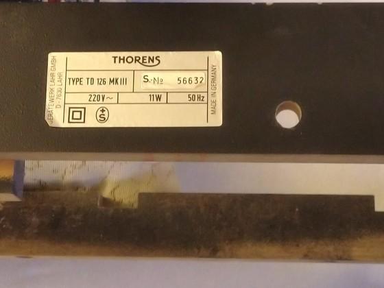 Thorens, Zarge, TD126