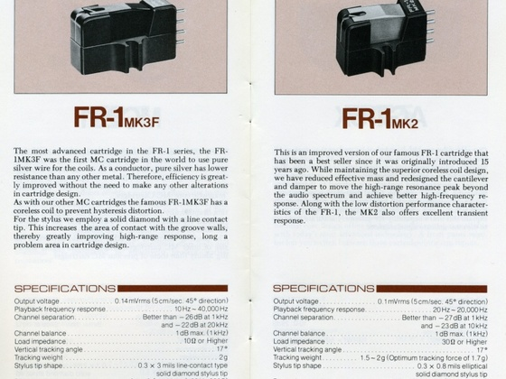 Fidelity Research FR-1 MK3F und MK2