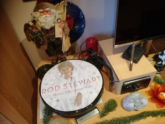 Keine echte Platte von Rod Stewart. Nur Deko