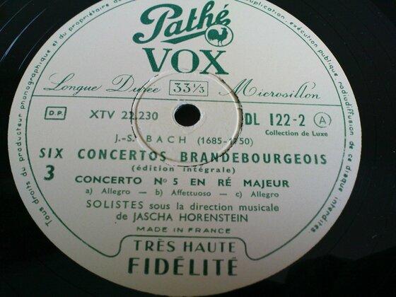 Bachs Brandenburgische Konzerte mit Horenstein auf Pathé Vox