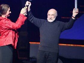 Bernard Parmegiani on stage