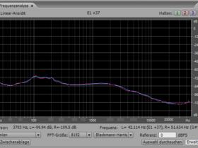 Rillenrauschen mit doppeltem Low-Cut-Filter ab 120 Hz