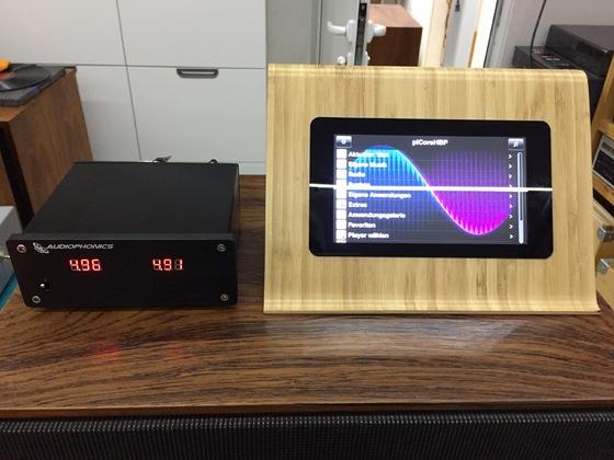 Raspberry mit Hifiberry DAC+ pro vorne