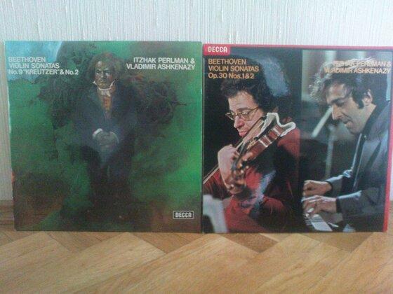 Beethoven-LPs von Perlman und Ashkenazy