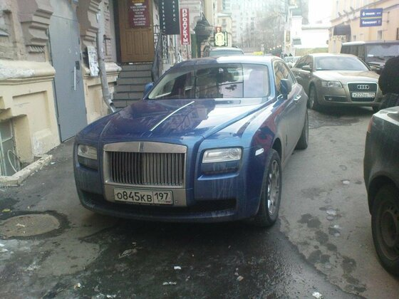 Rolls-Royce Ghost auf dem Arbat