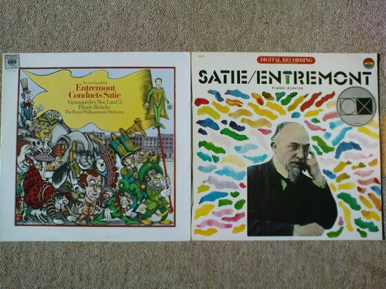 Satie-LPs von Philippe Entremont