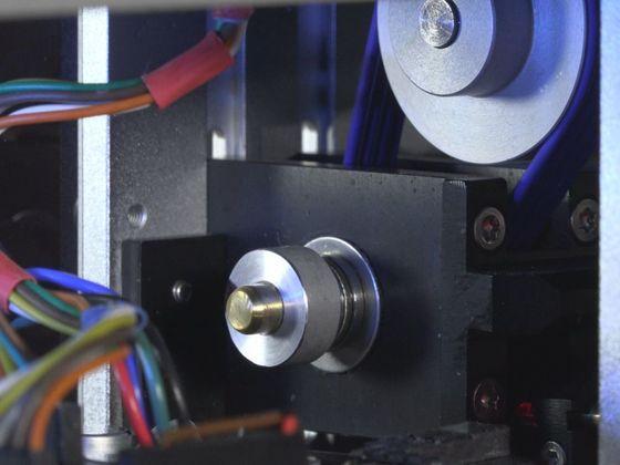 ein Blick in den kompakten Antrieb. (Wellendurchmesser 4 mm)