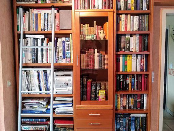 Die kleine Sony-Anlage in der Bibliothek