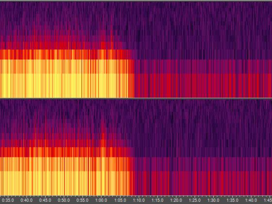 Leerrille Spektralfrequenzanzeige