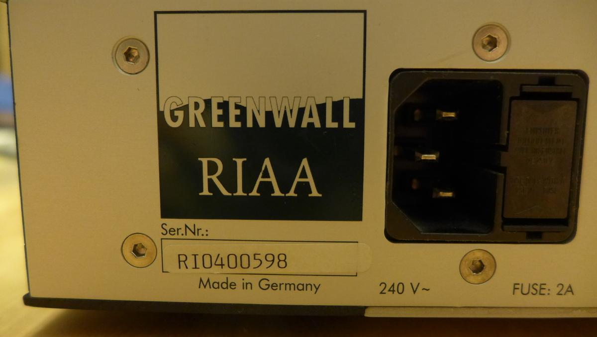 Greenwall RIAA