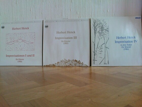 Improvisations-LPs von Herbert Henck
