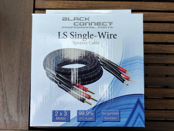 Black Connect 2x3m LS-Kabel