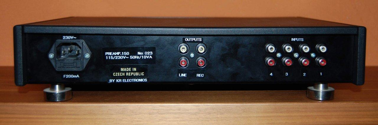 KR Audio P150 Rückseite
