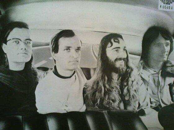 """Cover-Rückseite der """"Autobahn""""-LP von Kraftwerk"""