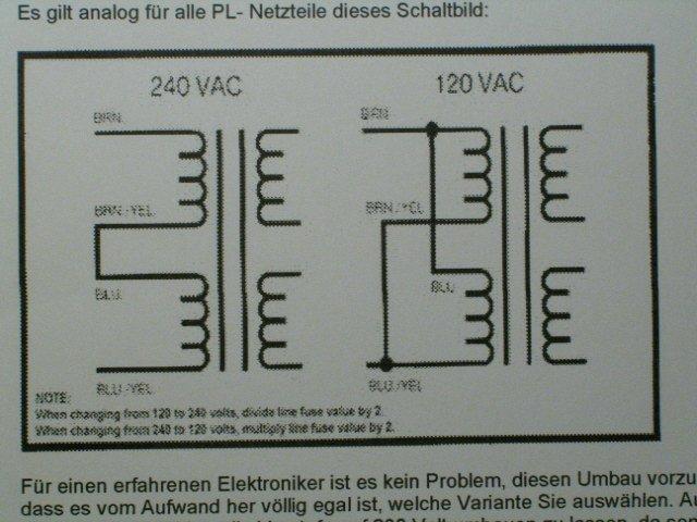 Brauche Hilfe bei Phase Linear Vorstufe Umbau 110V auf 230V ...